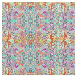 Tissu multicolore de fractale de boussole