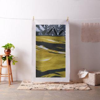 Tissu noir et jaune II
