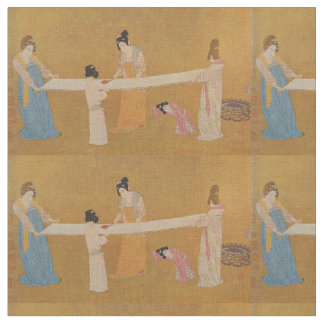 Tissu oriental vintage d'impression des femmes et
