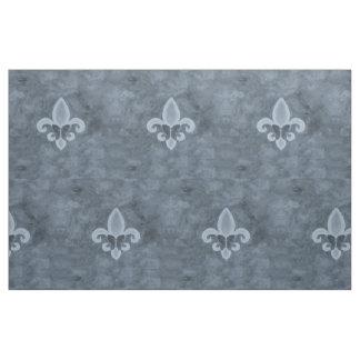 Tissu Papillon bleu de Fleur Lis de denim têtu du métier