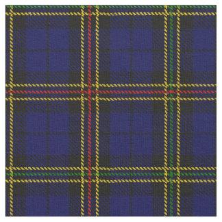 Tissu Plaid de bleu royal - jaune, rayure noire rouge et