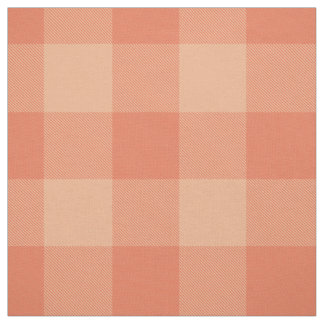 Tissu plaid orange rose de buffle de pêche