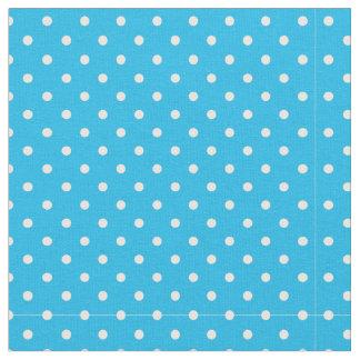 Tissu Point de polka bleu de réception au bord de la