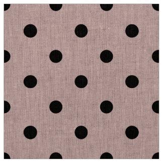 Tissu Point de polka noir rose
