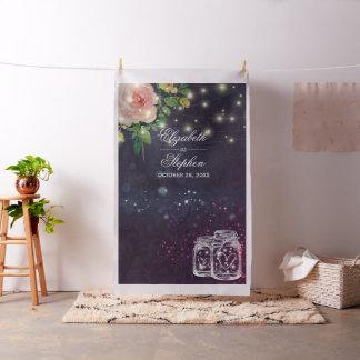 Tissu Pot de maçon floral chic de contexte de cabine de