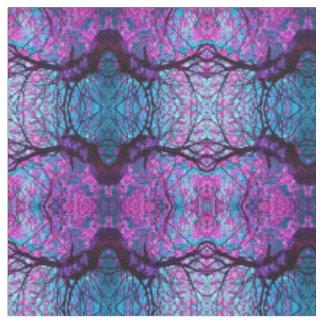 Tissu Pourpre/noir/tissu turquoise de conception