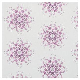 Tissu rétro élément pourpre floral