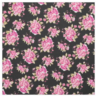 Tissu Roses floraux chics minables