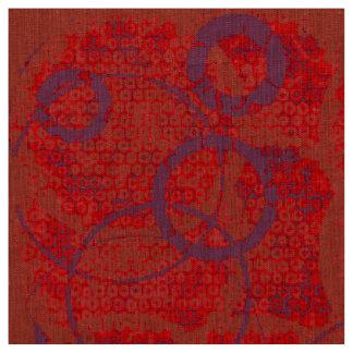 Tissu rouge et pourpre de cercle