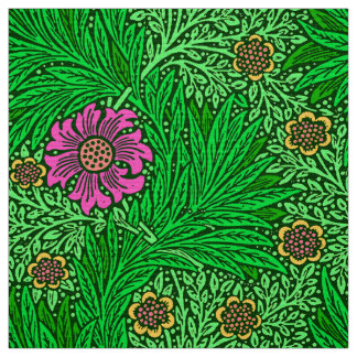Tissu Souci de William Morris, vert vert et fuchsia