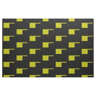 Tissu Talent 4Claire de mod de noir d'or jaune