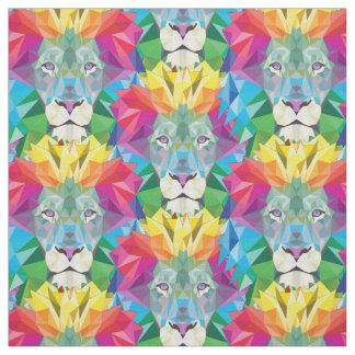 Tissu Tête géométrique de lion