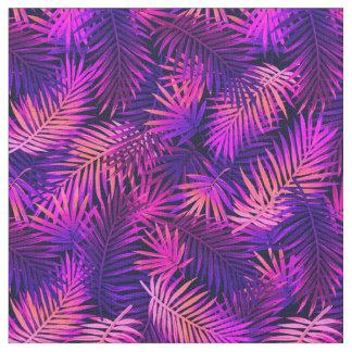Tissu tropical au néon coloré pourpre rose de