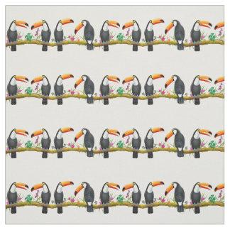 Tissu tropical d'entretien de toucan de Toco