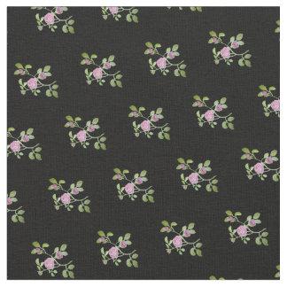 Tissu Vigne rose sur l'arrière - plan noir