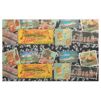 Tissu vintage de carte postale de Tiki