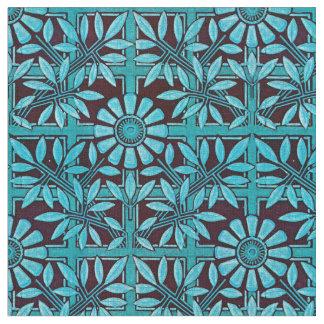Tissu Zinnia audacieux dans le bleu et le noir