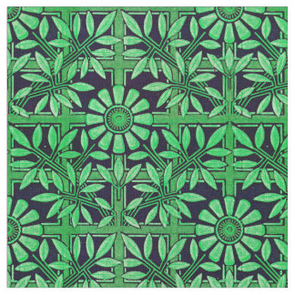 Tissu Zinnia audacieux en vert et noir