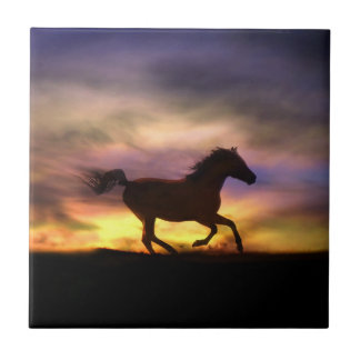Titre d'art de cheval carreaux