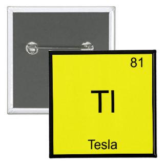 Tl - T-shirt drôle de symbole d'élément de chimie  Badge Carré 5 Cm