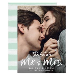 Toekomstige M. & Mevr. Engagement Save The Date Kaart