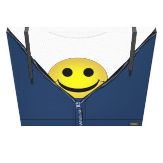 Toile 13ème Motif ; Visage souriant caché