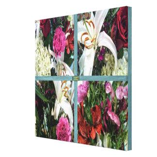 Toile 15ème Motif ; Fleurs de fenêtre