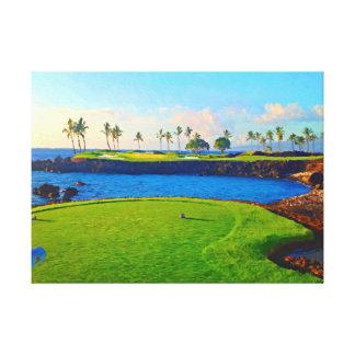 Toile 15ème Sur la baie chez Mauna Lani