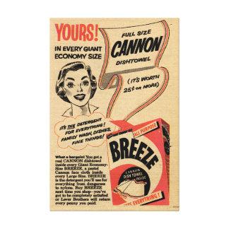 Toile 1955 annonces vintages de poudre à laver