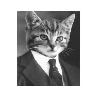 Toile #1 de chat de monsieur