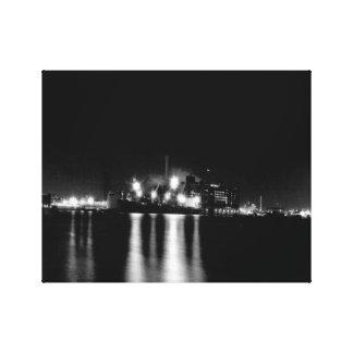Toile Abat le paysage urbain noir et blanc de point