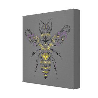 Toile abeille fleurie de miel