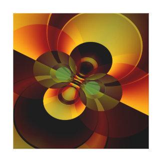Toile Abrégé sur géométrique cercles de Brown et d'or