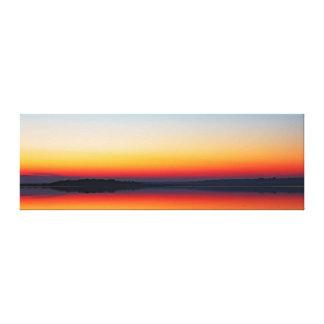 Toile Abstraction primaire - coucher du soleil sur la