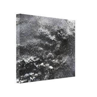 Toile abstraite noire et de blanc de photographie toiles