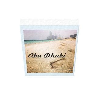 Toile Affiche d'Abu Dhabi Corniche