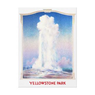 Toile Affiche de parc de Yellowstone