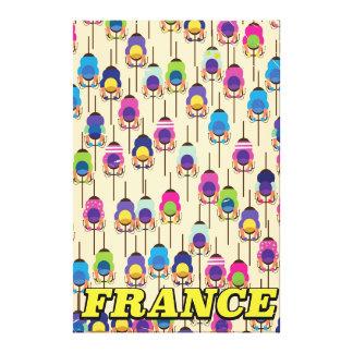 Toile Affiche de recyclage de voyage de la France