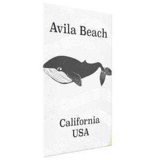 Toile Affiche de voyage de la Californie de plage