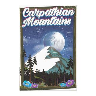 Toile Affiche de voyage de montagnes carpathiennes