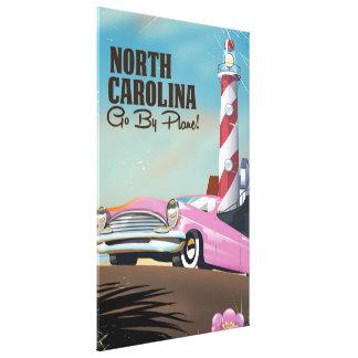 Toile Affiche de voyage de phare de la Caroline du Nord