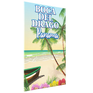 Toile Affiche de voyage de plage de Boca del Drago