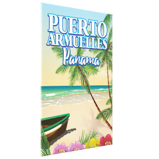Toile Affiche de voyage de plage de Puerto Armuelles