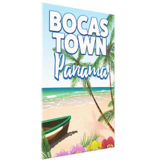 Toile Affiche de voyage de plage du Panama de ville de