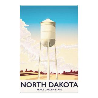 Toile Affiche de voyage de tour d'eau du Dakota du Nord