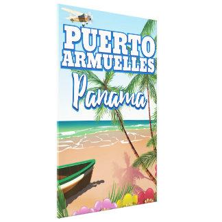 Toile Affiche de voyage de vacances de Puerto Armuelles