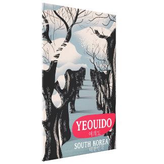 Toile Affiche de voyage de Yeouido Corée du Sud