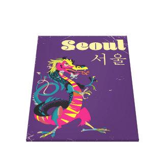 Toile Affiche sud-coréenne de voyage de Séoul