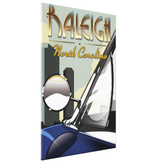 Toile Affiche vintage d'automobile de Raleigh la