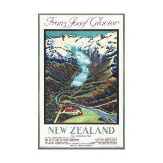 Toile Affiche vintage de voyage de glacier de Franz